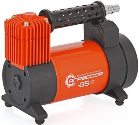Автомобильный компрессор Агрессор AGR-35 компрессор автомобильный агрессор agr 30l металлический 12v 140w производ сть 30 л мин led фонарь сумка 1 8