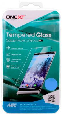 Защитное стекло ONEXT для Samsung Galaxy A3 2017 с рамкой белый 41230 аксессуар защитное стекло samsung galaxy s8 onext 3d white 41261
