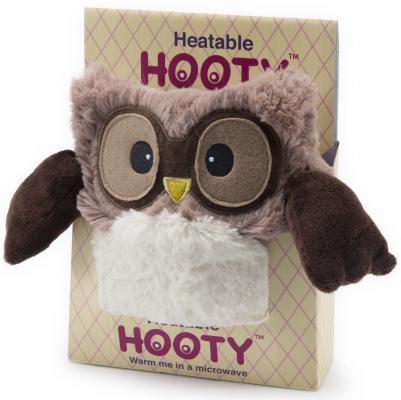 Мягкая игрушка-грелка Warmies Hooty - Совенок текстиль коричневый 20 см HOO-BRO-1