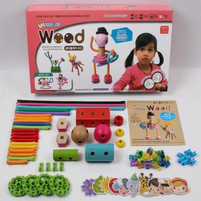 Конструктор WAVEPLAY Wood - Girl and cat 71 элемент 30-D конструктор waveplay fun and education 42 элемента 79 b