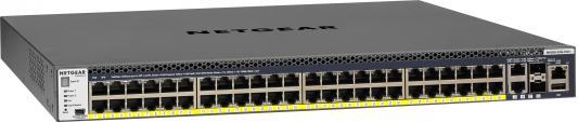 Коммутатор Netgear GSM4352PA-100NES управляемый 48 портов сетевой накопитель nas netgear rn42400 100nes rn42400 100nes