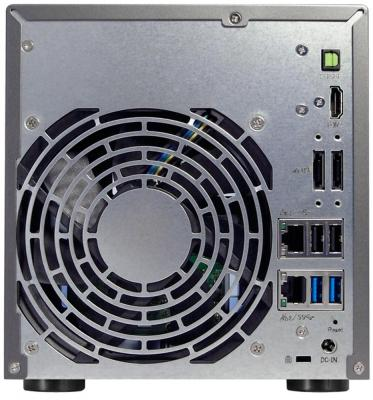 Сетевое хранилище Asustor AS-6104T 4 отсека NAS Celeron 1.6GHz 2Gb DDR3 eSATA 3xUSB3.0 от 123.ru