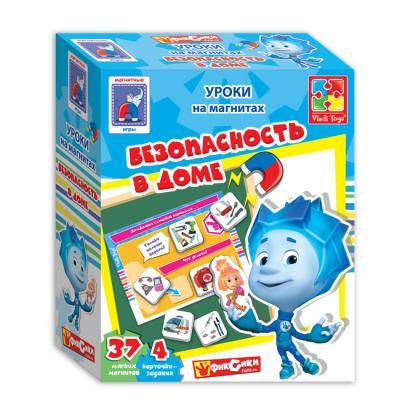 Магнитная игра Vladi toys развивающая Безопасность в доме с Фиксиками VT1502-15 vladi toys магнитная игра безопасность в доме фиксики vladi toys