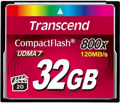 Карта памяти Compact Flash Card 32GB Transcend 800x TS32GCF800