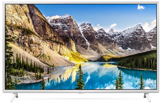 Телевизор LG 43UJ639V белый