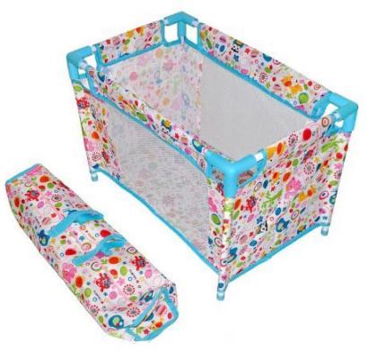 "Кроватка для кукол Mary Poppins ""Фантазия""  разборная, голуб.,  51*32*33 см 67318"