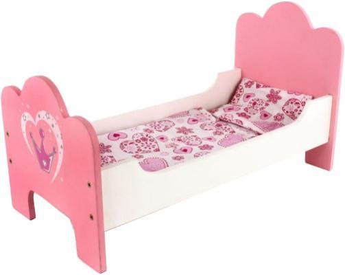 Кроватка для кукол Mary Poppins деревянная Корона 53*28*20 см 67114