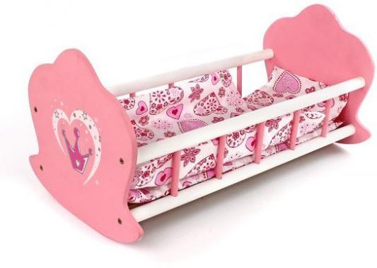 Купить Кроватка-люлька Mary Poppins деревянная Корона 51*30*25 см 67115, Аксессуары для кукол