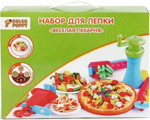 """Набор для лепки Color Puppy """"Веселая пекарня"""", тесто 250 г, аксессуары 631027 игровой набор enchantimals веселая пекарня"""