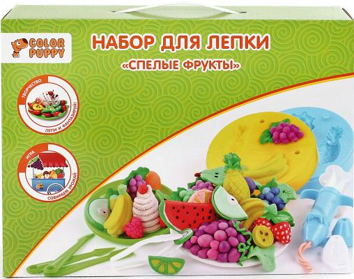 Набор для лепки Color Puppy Спелые фрукты, тесто 240 г, аксессуары 631026 color puppy набор для лепки прогулка с динозаврами тесто 240 г