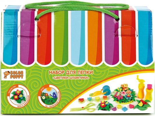 Набор для лепки Color Puppy Цветики-штампики, тесто 240 г, аксессуары 631727
