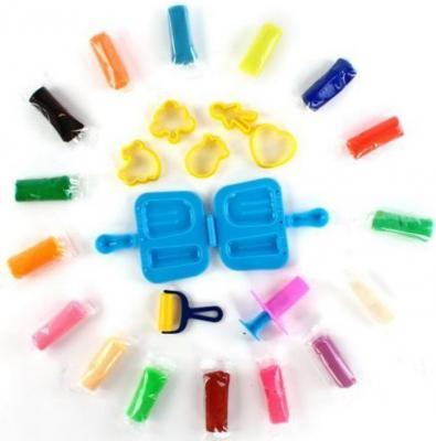 Тесто для лепки Color Puppy 16 цветов, 272 г, формочки 63934