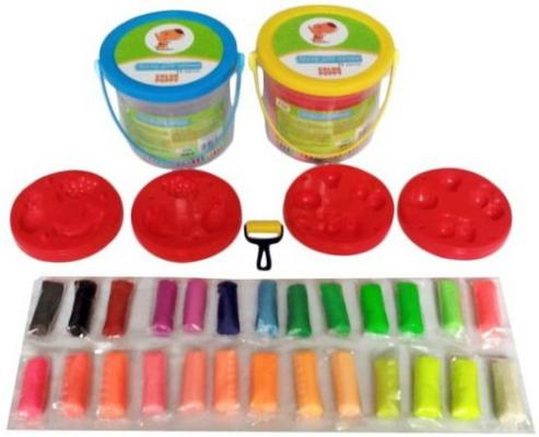 Тесто для лепки Color Puppy 26 цветов, 442г, формы, ролик 63936