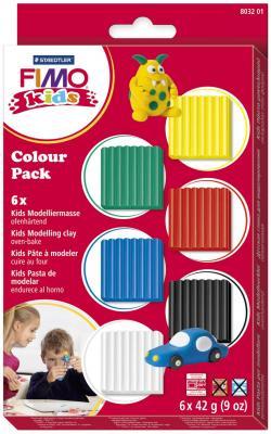 Полимерная глина FIMO Fimo Kids - Базовый 6 цветов самозастывающая полимерная глина минск