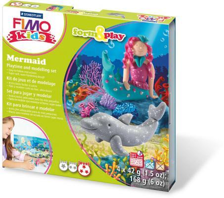 """Набор для лепки из полимерной глины FIMO kids form&play """"Русалочка"""" 8034 12 LZ от 123.ru"""