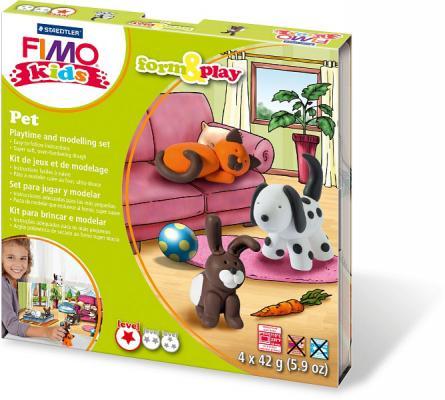 Набор для лепки из полимерной глины FIMO kids form&play Домашний любимец 8034 02 LZ от 123.ru