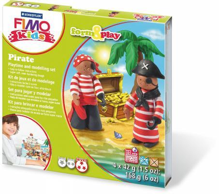 Набор для лепки из полимерной глины FIMO kids form&play Пират 8034 13 LZ от 123.ru