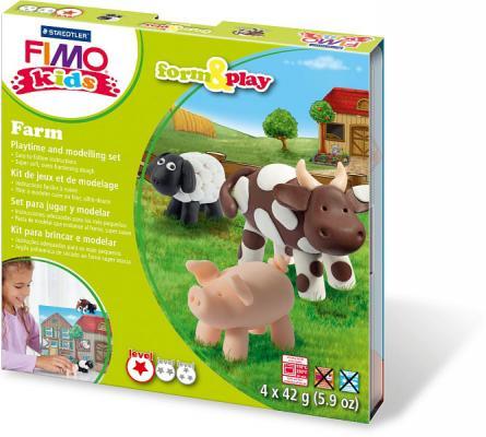 Набор для лепки из полимерной глины FIMO kids form&play Ферма 8034 01 LZ от 123.ru