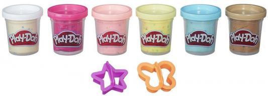 Набор для лепки Hasbro Play-Doh из 6 баночек с конфетти B3423 hasbro play doh игровой набор из 3 цветов цвета в ассортименте с 2 лет