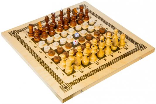 Настольная игра набор игр Шахматы Три в одном (нарды, шашки, шахматы) в ассортименте В-7