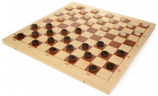 Настольная игра шашки Шахматы Шашки деревянные со 100-клеточной доской  D-4 от 123.ru