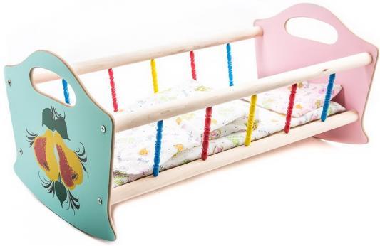 Игровой набор Деревянные игрушки Владимир Кроватка для кукол в ассортименте деревянные игрушки letoyvan набор миксер с продуктами