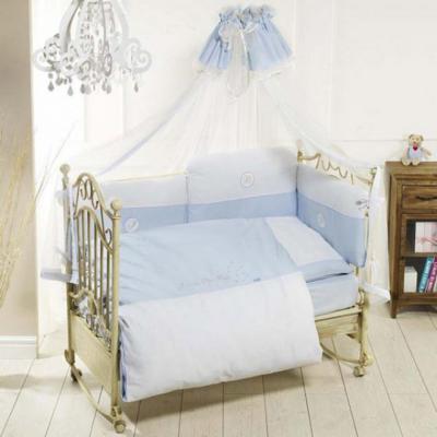 Постельный сет 6 предметов Feretti Petit Bebe (blue)