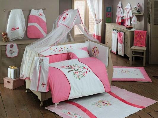 Постельный сет 6 предметов KidBoo Sweet Home (pink) постельный сет 6 предметов kidboo lovely birds pink