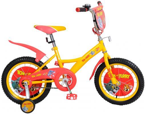 Велосипед Navigator Том и Джерри 16 желто-оранжевый велосипед двухколесный navigator superman 16