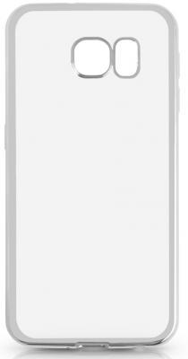 Чехол силиконовый DF sCase-31 с рамкой для Samsung Galaxy S6 серебристый