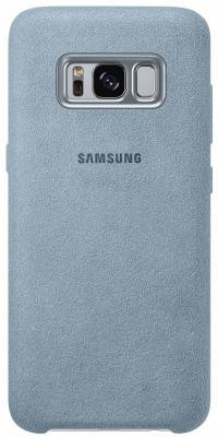 Чехол Samsung EF-XG955AMEGRU для Samsung Galaxy S8+ Alcantara Cover голубой чехол клип кейс samsung alcantara cover для samsung galaxy s8 розовый [ef xg950apegru]