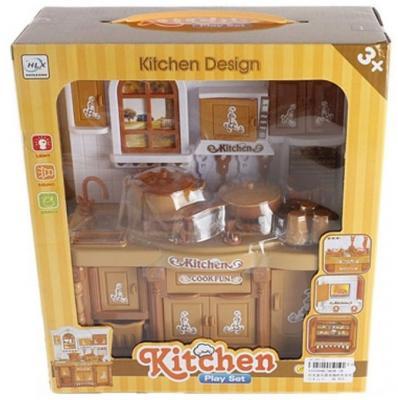 Кухонная мебель Shantou Gepai с аксессуарами, коричневая, коробка 5828-1B