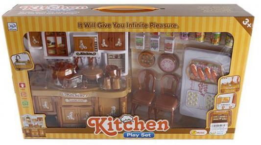 Кухонная мебель Shantou Gepai с аксессуарами, коричневая, коробка 5828-3B