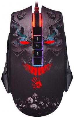 лучшая цена Мышь проводная A4TECH Bloody P85 Skull чёрный USB
