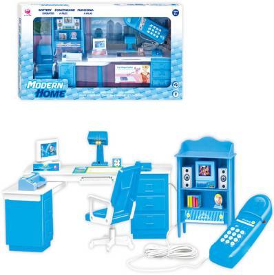 Набор мебели Shantou Gepai Мой кабинет, голубой, свет, звук, кор. 25338B
