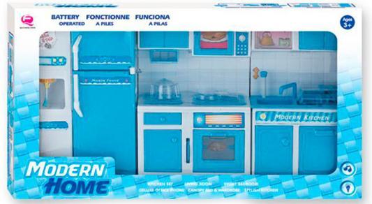 Набор мебели Shantou Gepai Моя кухня, голубая, свет, звук, кор. 25388B