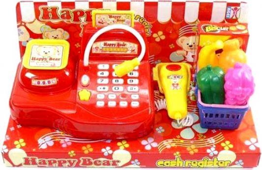 Касса Shantou Gepai с микрофоном, аксессуарами, свет, звук 009A shantou gepai игрушка пластм касса электронная продукты сканер shantou gepai
