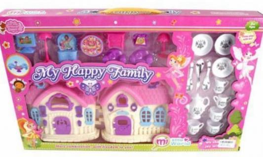 Дом для кукол Shantou Gepai Моя счастилвая семья с набором мебели и посуды 2285-5