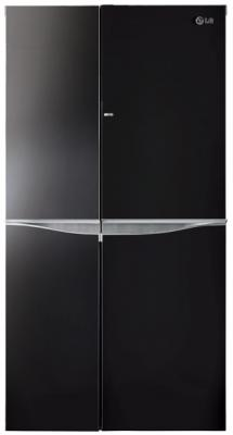 Холодильник Side by Side LG GC-M257UGBM черный холодильник side by side samsung rs552nrua9m
