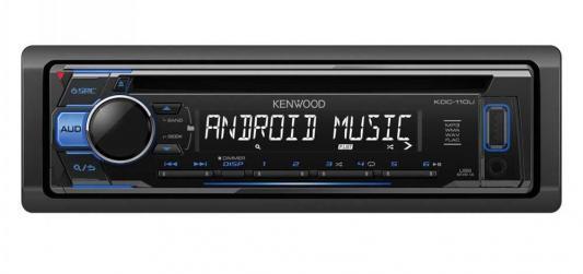 Автомагнитола Kenwood KDC-110UB USB MP3 CD FM RDS 1DIN 4х50Вт черный