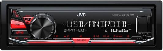 Автомагнитола JVC KD-X141 USB MP3 FM RDS 1DIN 4x50Вт черный