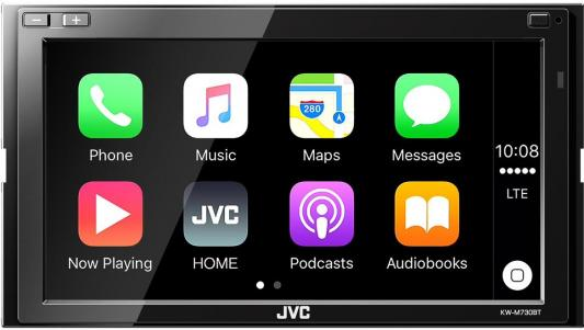Автомагнитола JVC KW-M730BT 6.8 USB MP3 FM RDS 2DIN 4x50Вт черный gps navigation hd 2din 6 2 inch car stereo dvd player bluetooth ipod mp3 tv camera