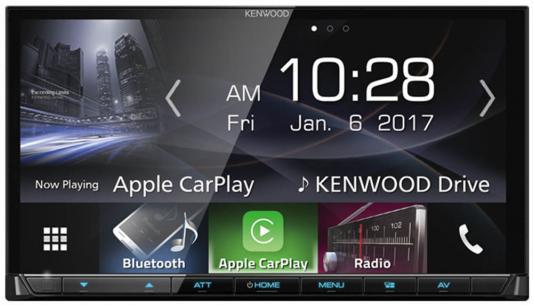 Автомагнитола Kenwood DMX7017BTS 6.2 USB MP3 DVD CD FM 2DIN 4x40Вт черный блокада 2 dvd