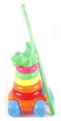 Пирамида-каталка Shantou Gepai Крокодильчик 8 элементов NS-N187-3 каталка shantou gepai морской конек zya a0347