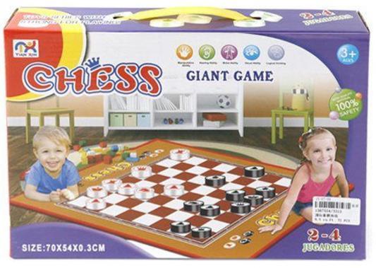 Напольная игра семейная Shantou Gepai Шахматы 3315 напольная игра набор игр shantou gepai шахматы шашки нарды карты 4 в1 8188 12