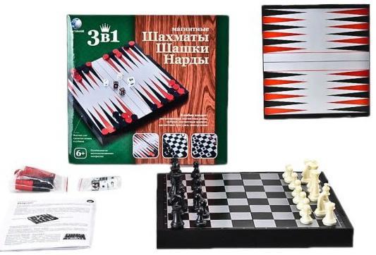 Настольная игра логическая Shantou Gepai Шахматы, шашки, нарды магнитные 2726C настольная игра нарды шахматы нарды дорожные в ассортименте а 1