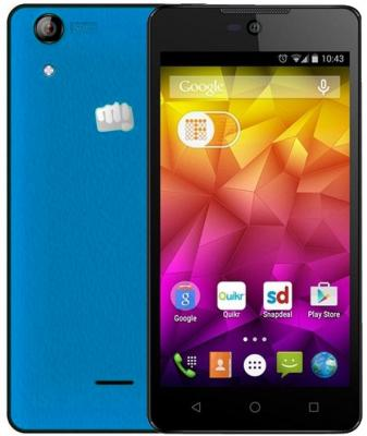 """Смартфон Micromax Q340 синий 5"""" 8 Гб Wi-Fi GPS 3G"""
