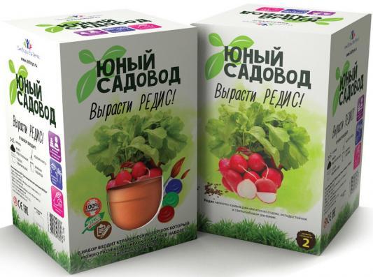 """Набор для выращивания Инновации для детей """"Юный садовод"""" - Вырасти редис 406"""