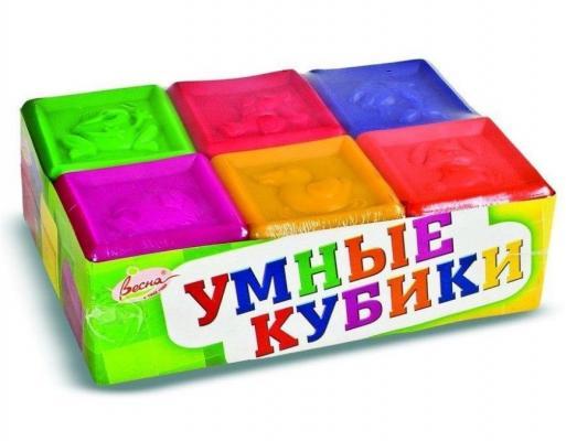 Купить Кубики ВЕСНА Умные кубики от 1 года 6 шт, Кубики и стенки