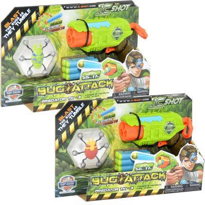 Купить Бластер Zuru X-Shot с мишенью - Атака пауков зеленый красный в ассортименте 4815, красный, зеленый, Размер упаковки: 30 x 5.6 x 19.5 см., для мальчика, Игрушечное оружие